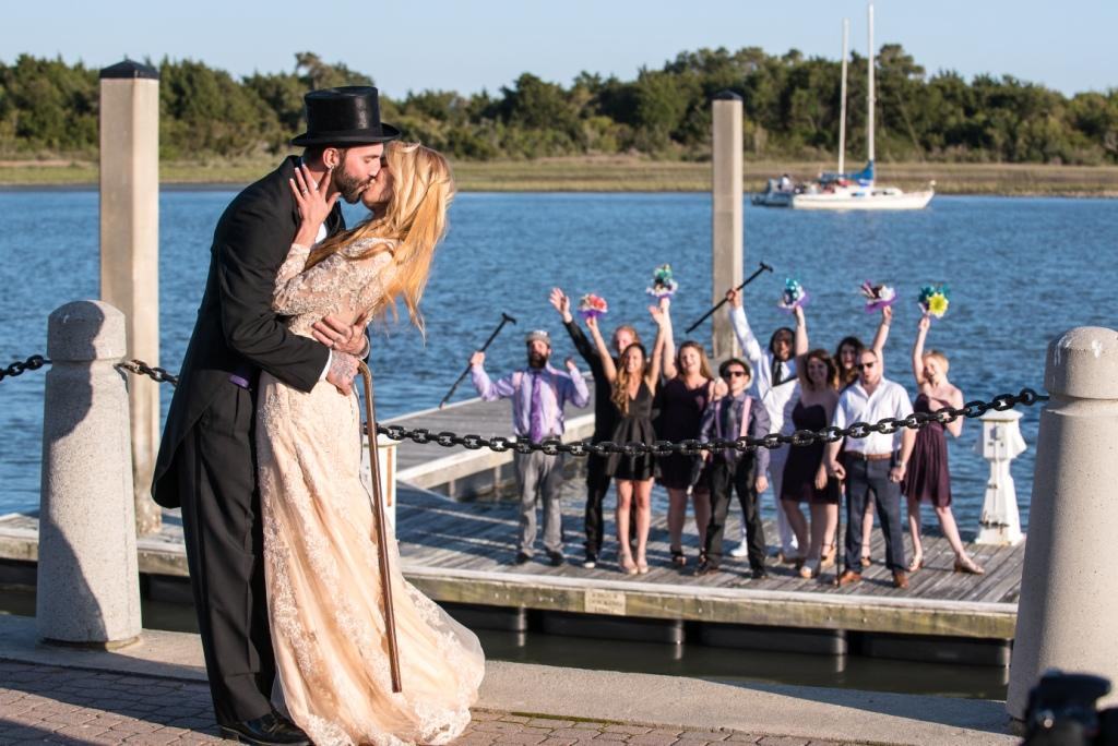 Crystal Coast wedding Morehead City Alice in Wonderland Mad Hatter We hate saying this